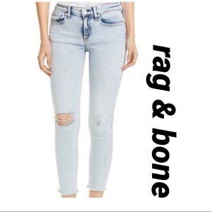 rag & bone cate mid rise ankle skinny jeans sz 27